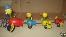 Vintage Fisher Price Duck Pull Toy wings turn