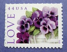 Sc # 4450 ~ 44 cent Love, Pansies In A Basket (cf14)
