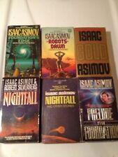 ISAAC ASIMOV Sci Fi Lot CLASSICS NIGHTFALL FOUNDATION ROBOTS sequels SF