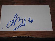 Anton Khudobin Autographed 3X5 Index Card-Bruins