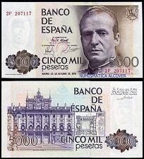 5000 pesetas 1979 Juan Carlos I  S/C - SPAIN Pick 160  UNC