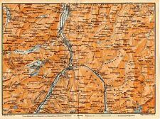 Carta geografica antica SVIZZERA Glarus dintorni Old Map Switzerland Suisse 1905