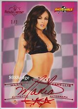 2011 BENCHWARMER RACER GIRL AUTO: MARIA KANELLIS #1/1 OF RED AUTOGRAPH VAULT WWE