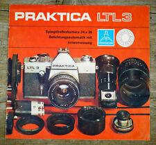 Pentacon prospectus PRAKTICA LTL 3 de 1977 caméra Accessoires Brochure Publicité x8005