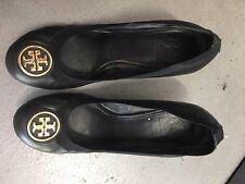 Tory Burch Caroline Black Wedge Shoes 8.5