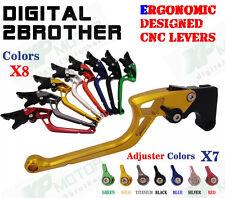 Ergonomic CNC Adjustable Brake Clutch Lever Yamaha YZF-R6 05-14 YZF R1 04-08 R6S