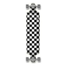 Yocaher Drop Down Longboard Complete - Checker Silver