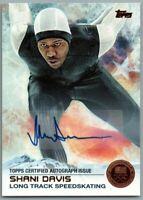 2014 Topps U.S. Olympic Team Autographs Bronze #22 Shani Davis LP 32/50