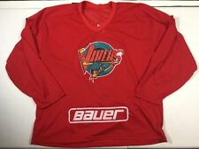 Vtg 90's Bauer Detroit Vipers IHL Hockey Jersey Red Mens Red Wings Rare!! Sz XL