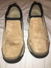 Men's GH Bass Roscoe Size 10M Beige Brown Leather Walking Shoes Loafer Comfort