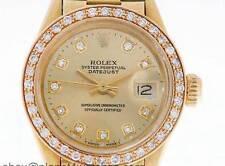 Rolex Oyster Perpetual Datejust Ladies 18K Gold Diamond Watch Rolex Vintage