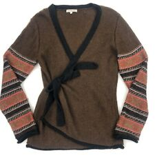 indigenous one weave sweater 50% alpaca 50% wool Size L Brown rust