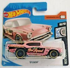 🚓 Hot Wheels 2020 short card HW ROD SQUAD '57 chevy chevrolet pink rose