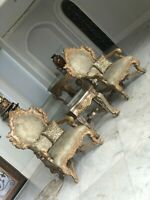 VRY high END FrencH ITALIAN Tudor ROCOCO Louis XV Ornate 2 ARMCHAIRS chairs