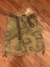 Abercrombie & Fitch Camo Cargo Shorts Belted Amy Heavy Mens Size 30