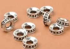 50Pcs   Charms Tibetan Silver Bracele  charm  Bead Caps loose Spacer Bead 8mm