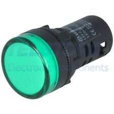1pcs  Spia 22mm Retroilluminato LED 230V AC convessa IP65 -20÷60°C TELSTORE