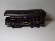 Cast Iron Railroad Passenger Observation Coach Train Car 44 Black w Gold Letters