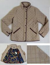Ralph Lauren Equestrian-Belt-Buckle Snap Down Suede Crest Patch Quilted Jacket S
