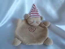 Doudou ours marron, bonnet rayé, Absorba, Blankie/Lovey/Newborn toy