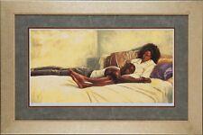 "African American Black Art Print ""NO BURDENS TOO HEAVY"" by Alonzo Adams"