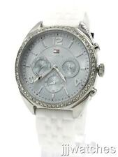 New Tommy Hilfiger Women Multi-Function White Silicone Watch 38mm 1781569 $165