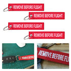 5Pcs Red Remove Before Flight Key Chain Luggage Tag Woven Embroidery Keychain