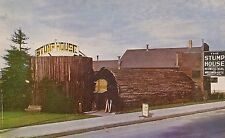 Famous Stump House on Hwy 101 in Eureka CA Postcard