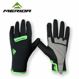 Merida Waterproof Men's Full Finger Cycling Gloves Padded Cycle Gloves M/L/XL
