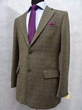 Men's Herringbone Check Magee Nice T2 Tweed Jacket Blazer 38S SK551