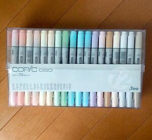 Too Markers Copic Ciao Start 72 Color Set Manga Anime Comic Marker Art Pen