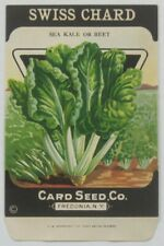 SWISS CHARD 1920's Card Seed Packet
