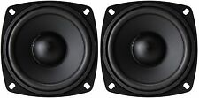 "NEW PAIR Replacement 4"" Inch Speaker Woofer Driver Home Theater Car 8 Ohm 100W"