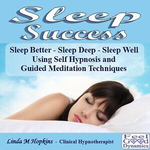 Sleep CD Sleep Success Self Hypnosis / Guided Meditation CD For Insomnia etc.