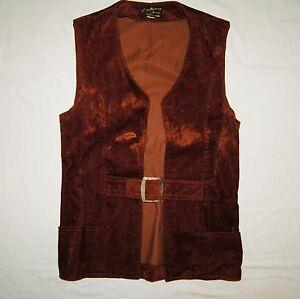 Vintage Vest Gary Norman Originals by Superior Pants Brown Metal Buckle Med 1960