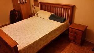Farmhouse Country Oak Slatted  Double Bed + Mattress