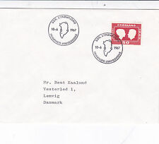 Greenland 1967 Royal Wedding FDC Stromfjord Cancel VGC