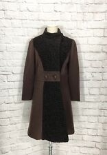Vintage Kiminetta Coat Brown Wool Faux Persian Lamb Mod Jacket Small S