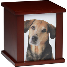 MDF PHOTO FRAME PET URN IN CHERRY - 2ND QUALITY - FREE SHIPPING U.S.A. - M190