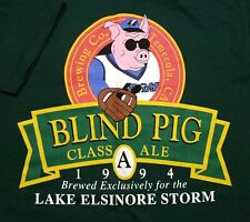 NWT Vintage 1994 Blind Pig Ale Lake Elsinore Storm MiLB Made in USA Large Shirt