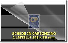 PRINZ CARTONCINI NERI a 2 LISTELLI 148 x 85 - confezione da 100 pezzi