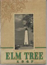 1947 HILLHOUSE HIGH SCHOOL YEARBOOK, THE ELM TREE, NEW HAVEN, CONNECTICUT