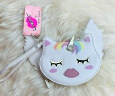 Betsey Johnson Unicorn Cat Angel With Wings Wristlet Wallet Coin Purse