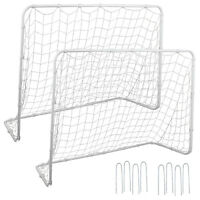 2Pack 6x4 FT Portable Youth Size Steel Frame Soccer Goal Football w/Durable Net
