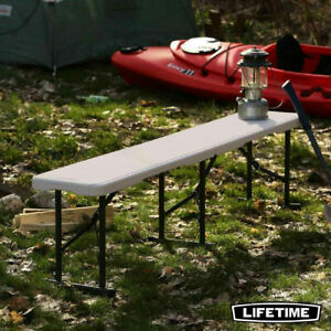 Lifetime 6ft (1.8m) Fold-In-Half Bench-Folds Away into a Portable Case