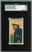 1909-11 T206 Frank Smith White Cap Sweet Caporal 350 Chicago SGC 70 / 5.5 EX+