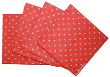 French Provence 100% Cotton Set of 4 Napkins - Lavender Red