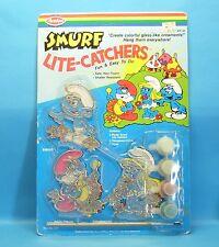 """Schlumpf """"Glasmalerei-Set"""" smurf lite catchers 279 Farben Pinsel AVALON 1983 MiB"""