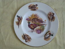 ASHDALE POTTERY FINE BONE CHINA PLATE WITH GAME BIRDS PICTURE MADE IN ENGLAND