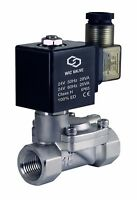 "Slow Closing Anti Water Hammering Solenoid Process Valve 24V AC Viton 3/4"" Inch"